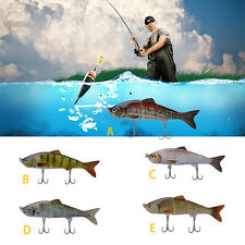 4 Parts Multi-Jointed Bass Striper Crappie Fishing Bait Swimbait Lure Life Like