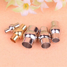 10/50pc Magnetic clasps silver plated/copper glue-in 2-8mm for Leather DIY craft