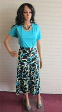 New Simply Be Being Casual set Skirt Top and Necklace Size 16 UK Turquoise Black