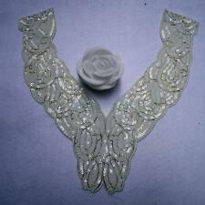 1Pc Floral Collar Venise Sequins Lace Trim Sewing Craft Embroidered Applique