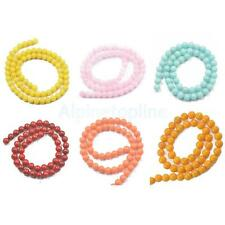 Top Fashion Round Jade Gemstone Loose beads 6mm 8mm Stone Jewelry DIY Making NEW
