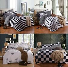 New Single Double Queen King Size Bed Pillowcase Quilt Duvet Cover Set 4 Style