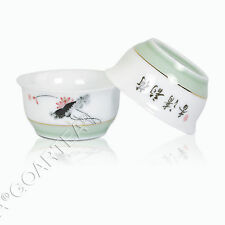 40ml GongFu Tea Porcelain Ceramic JingDe Chinese Lotus White teacup tea Cup