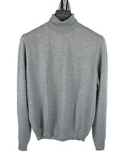 BOSS SELECTION Roll Neck Jumper NURIS in XL light grey of Cashmere + Silk