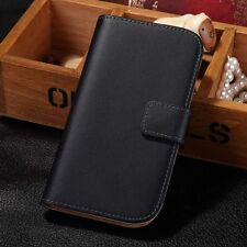 GENUINE Leather Flip Card Wallet Stand Cover Case For Samsung Galaxy S3 I9300