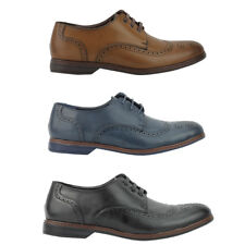 Mens Faux Leather Italian Style Smart Casual Lace up Formal Brogue Shoes UK Size