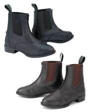 Synthetic Leather Riding Paddock Boots - CHILDS - Zip or Lace - Black or Brown