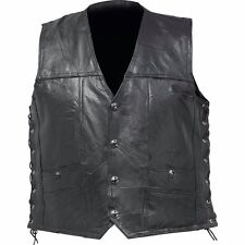 Diamond Plate™ Rock Design Genuine Buffalo Leather Concealed Carry Vest