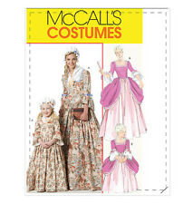 OOP NEW McCALLS DRESS GOWN BONNET AMERICAN COLONIAL PATTERN M6139