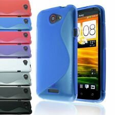 S-LINE TRANSPARENT TRANSLUCENT CLEAR TPU GEL SOFT CASE BACK COVER FOR HTC ONE X