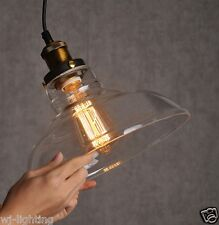 Glass Shade Ceiling Vintage Chandelier Industrial Retro Pendant Lamp Light