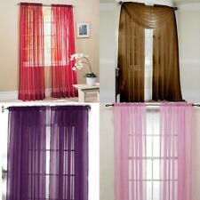 Hot Scarf  Sheer Voile Door Window Curtains Drape Panel Valance Curtains