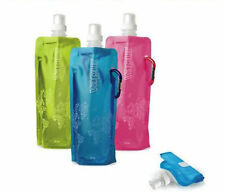 2016 New Flexible Collapsible Foldable Reusable Water Bottles Ice Bag 6 Color