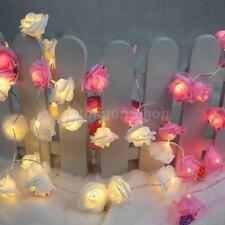 LIXADA 2.2M 20 LED Flower Rose Lamp Fairy String Light for Christmas Party QV3D