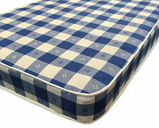 Single Mattress 3ft, Shorty, Small Double, Double Mattress 4ft 6 Checked Fabric
