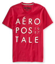 Aeropostale Mens Embroidered Aero 1987 Graphic T-Shirt