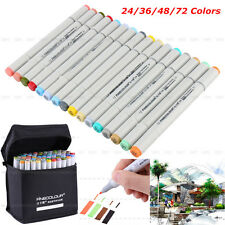 New FINECOLOUR EF101 24 36 48 72 Color Set Marker Pen Sketch Manga Graphic+Bag