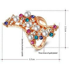 Stunning 18K Rose Gold Plated Genuine Austrian Crystals Fashion Ring