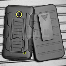 Armor Hybrid Holster Hard Rugged Shockproof Case Cover For Nokia Lumia 635 630