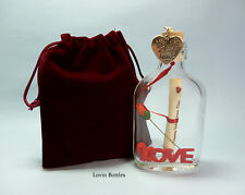 VALENTINES PERSONALISED MESSAGE IN A BOTTLE GIFT
