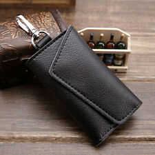 Mens Womens Leather Keyholder Case Key Bag Purse Keychain Credit Card Holder