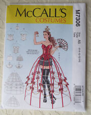 McCALL'S M7306 Misses Cosplay Corsets Skirts Hoop Skirt Sewing Costume Pattern