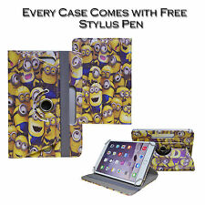 """Universal Despicable Me Minion 360° Rotating Cover Case Fits Various 7"""" Tablets"""