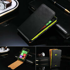 Genuine Real Leather Flip Case Cover For Nokia Lumia 625