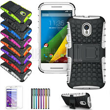 Protective Rugged Hybrid Impact Hard Case Cover For Motorola Moto G 3rd Gen 2015