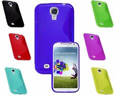 S-Line Wave TPU Soft Silicone Gel Grip Case Cover For Samsung Galaxy S4 i9500 UK