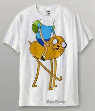 RARE NEW Adventure Time with Finn and Jake Boy Head In Dog T-Shirt Tee L & XL