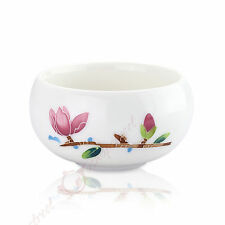 50ml Top Chinese GongFu Tea Porcelain Ceramic JingDe Flower White teacup tea Cup