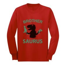 Brother Saurus - Cute Boy T-Rex Gift for Big Brother Long sleeve kids T-Shirt