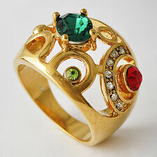 Beautiful CZ Womens Yellow Gold Filled Promise Love Band Ring Size 7-9