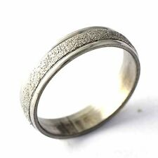 Stainless steel Sandy Unisex band Promise Love Band Ring Size 7,8,9,10,11