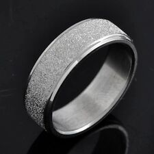 Promise Love Band Ring Sandy Mens Womens Stainless Steel Gold Size 6.5,8,9,10