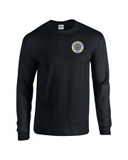 United States Army EMBROIDERED Black Long Sleeve T Shirt  US Military