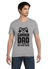 Gamer Dad - Gift for Fathers Cool Dad's Gaming V-Neck T-Shirt Funny