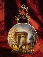 L'Arc de Triomphe Signed Rare COLLECTOR PLATE  LOUIS DALI ~ LIMOGES China FRANCE