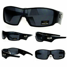 Locs Sporty Shield Shark Fin Gangster Plastic Sunglasses