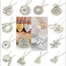 """Attractive """"I Love You"""" Heart Lover Gift Pendant Silver Chain Necklace Jewelry T"""