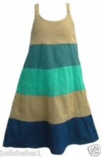 GIRL'S EX NEXT BLOCK PANEL STRAPPY SUMMER SUN DRESS 5 YEARS