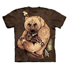 TRIBAL BEAR ADULT T-SHIRT THE MOUNTAIN NATIVE AMERICAN