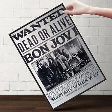 John Bon Jovi WANTED Dead or Alive Concert Poster | FREE Shipping