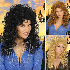 New Women Ladies Attractive Wig for 80s Ladies Perm Fancy Dress Accessory