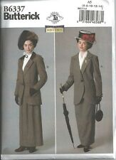 BUTTERICK 6337 Misses Edwardian George V Downton Abbey Titanic Costume Pattern
