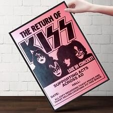 KISS Live in Concert Poster | Gifts For Guys, Geeks | FREE Shipping