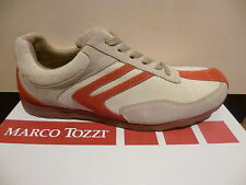 Marco Tozzi Men's Lace-up Shoes Low Shoes Trainers beige/red 50% reduced NEW