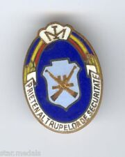 Youth pioneers friend of security troops during Ceausescu era 1970 badge Romania