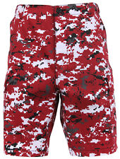 shorts camo red digital military bdu style camouflage mens rothco 67413